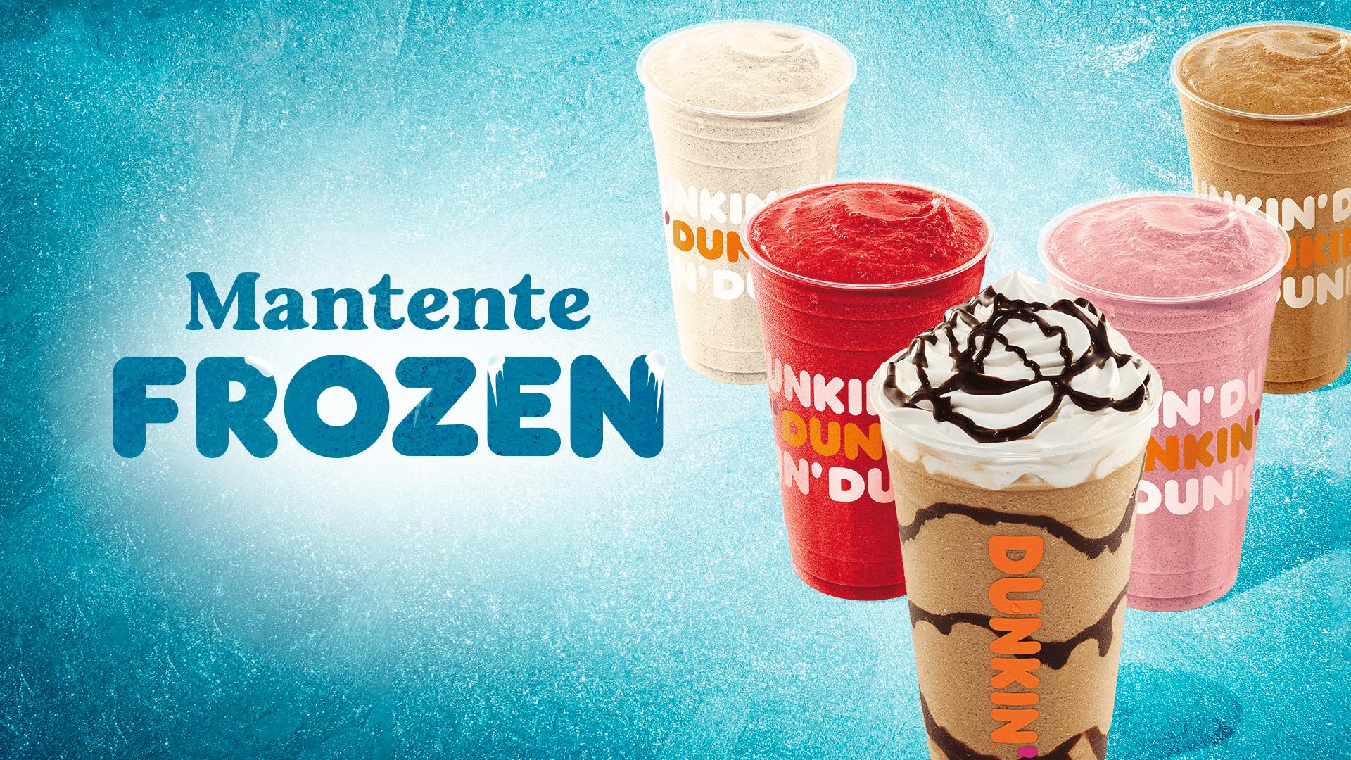 En verano las bebidas  frozen de Dunkin' van donde tú quieras, también a domicilio